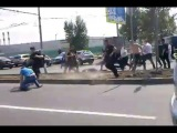 Москва Теплак 30.06.2013. Бой возле ТЦ Принц- Плаза